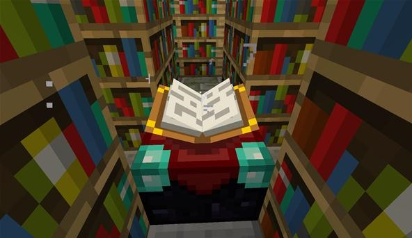 How to use the enchantment table in minecraft minecraft wonderhowto watch as the enchantment table pulls letters off the bookshelves publicscrutiny Images