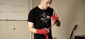 Put on boxing hand wraps