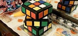 Make a Rubik's Cube Cake