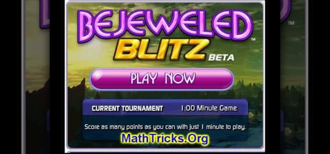 How to Hack Bejeweled Blitz with cheat codes (07/21/09