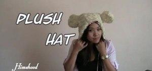 Sew a fuzzy, furry plush teddy bear trapper hat