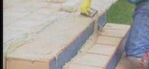 Grout backyard tile steps