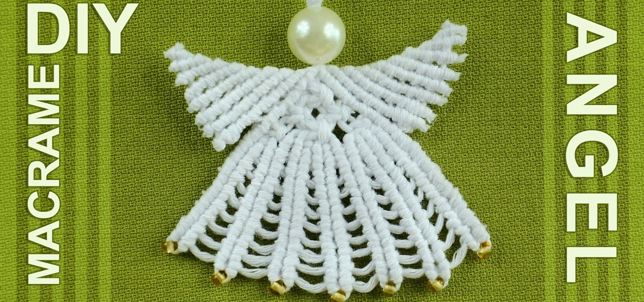 Make Macrame ANGEL Decoration