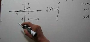 Find the formula of a piecewise function given a graph
