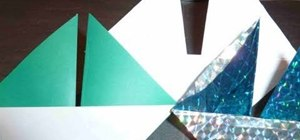 Create an origami sailboat for Father's Day