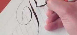 Write the letter P in calligraphy copperplate