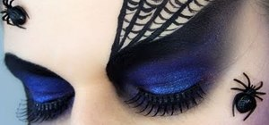Create a dramatic purple Spider Queen/Black Widow look for Halloween