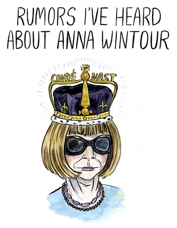 "Gossip Illustrated: Anna ""Devil"" Wintour Smeared With Ink and Wit"