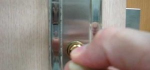 Pick a cylinder door  lock with a wire