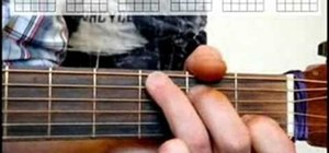 "Play ""Knockin' on Heaven's Door"" on an acoustic guitar"