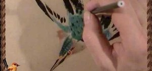 Draw a spring kingfisher bird - Chinese brush painting