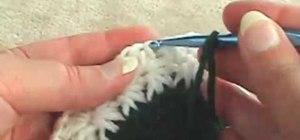 Crochet a star stitch winter hat