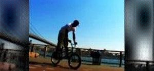 Bunnyhop with a BMX bike