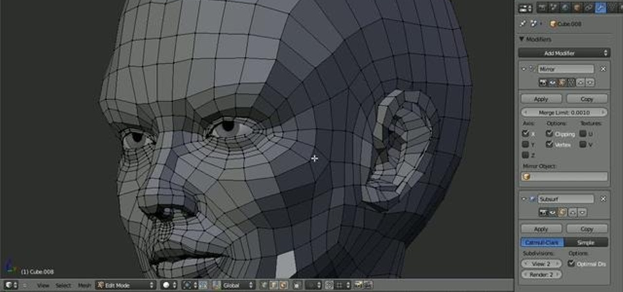 Blender Character Modeling 10 Of 10 : How to model the topology of a human head in blender