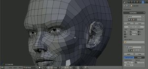 Model the topology of a human head in Blender