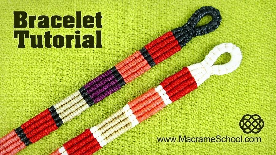 How to Make Colored Stripe Bracelet