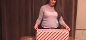 Gift wrap presents for Christmas