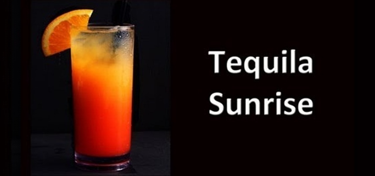 How to make a tequila sunrise cocktail drink tequila for Good tequila mixed drinks