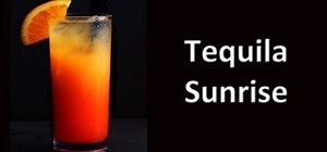 Make a Tequila Sunrise cocktail drink