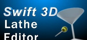 Use the Lathe Editor tool in Swift 3D v6