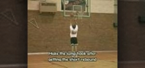 Practice baby jump hook shots for basketball