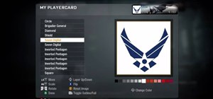 Draw the United States Air Force logo in the Black Ops emblem editor