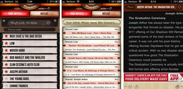 Bandito iPhone App Delivers Music News Based on Your iTunes Library