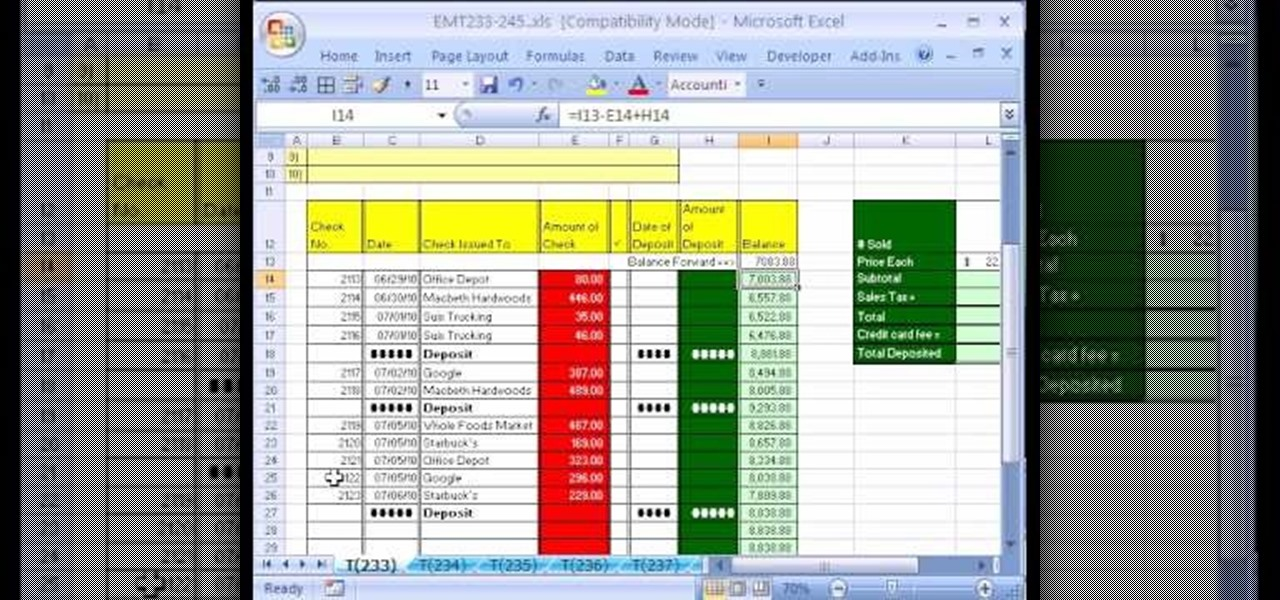 free checkbook balancing software