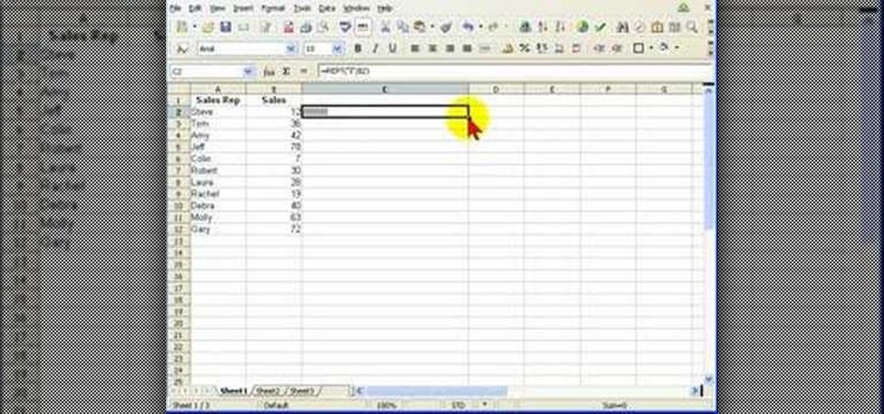 how to create an in cell bar graph using open office calc software tips wonderhowto