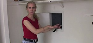 Install a home wall safe