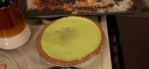 Prepare a seafoam lime cantaloupe pie