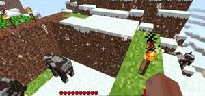 Make a pit trap for animals in Minecraft