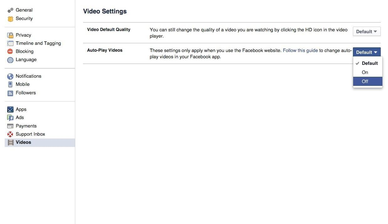 How to Disable Those Annoying Auto-Play Videos on Facebook