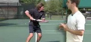 Focus swing path in a tennis forehand