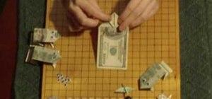 Make a money origami frog