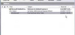 Create a preview button in Microsoft Outlook Express