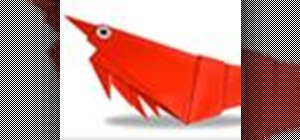 Origami a prawn Japanese style