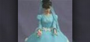 Decorate a princess doll cake
