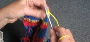 Do a mock rib stitch when knitting