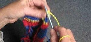Do a mock rib stitch when knitting