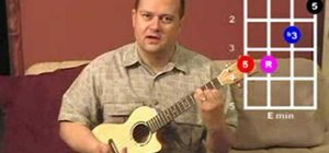 Play moveable minor chord forms on the ukulele