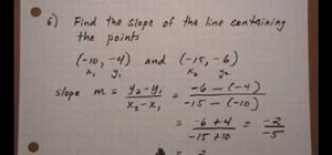 Find the slope from a set of points