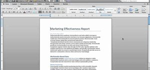 Reformat a document with Quick Style Sets in Microsoft Word for Mac 2011