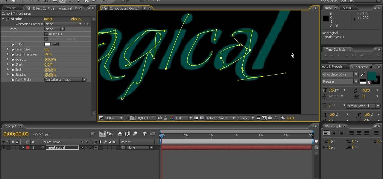 how to create handwriting in after effects after effects wonderhowto