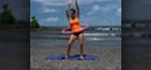 Work out with a hula-hoop
