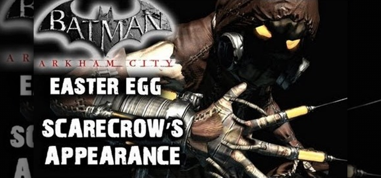 how to find the scarecrow easter egg hidden in batman arkham