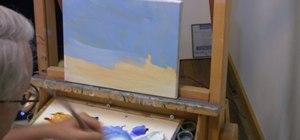 Paint a landscape painting