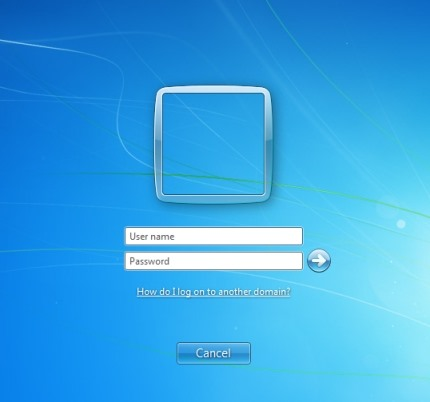 How to log on Windows 7 with username & password