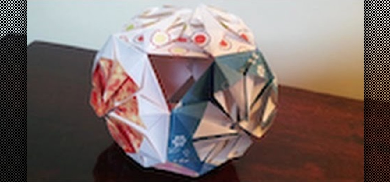 Make the Origami Kusudama Chrysanthemum Flower