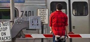 Kevin Waiting at the Tracks